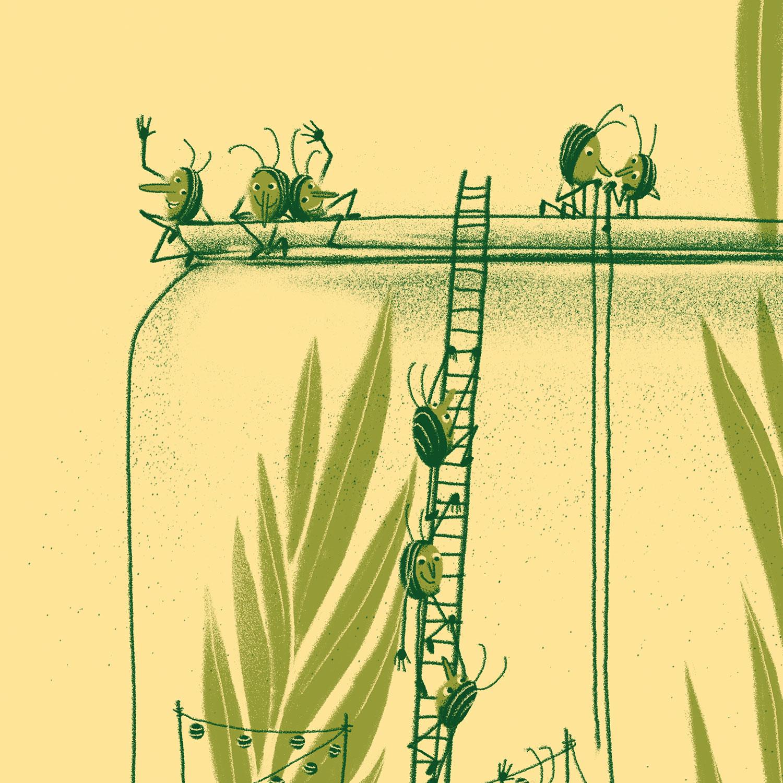 Käfer im Glas