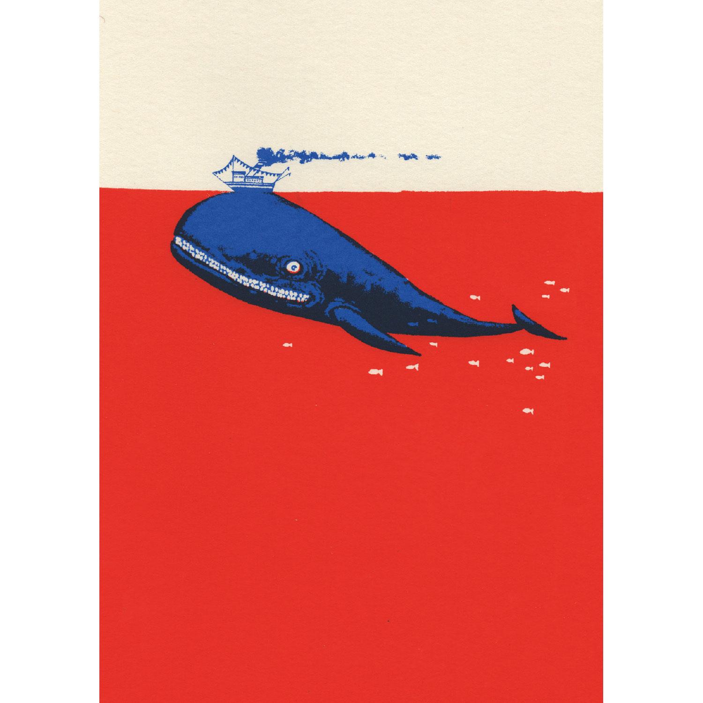 Walfischleben Postkarte
