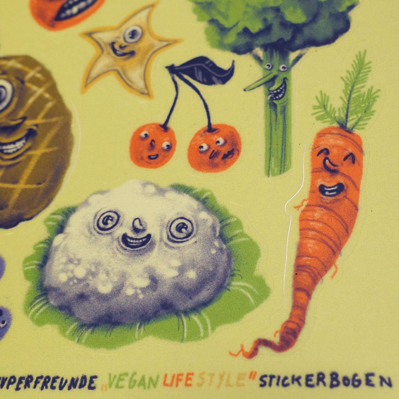 Vegan Lifestyle Stickerbogen