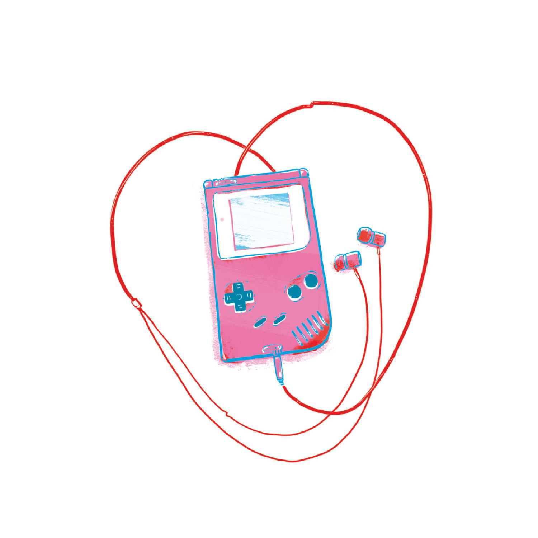 8-Bit Love Postkarte