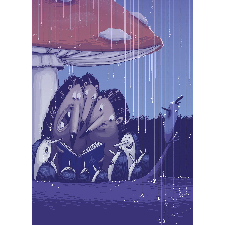 Unterm Pilz Postkarte