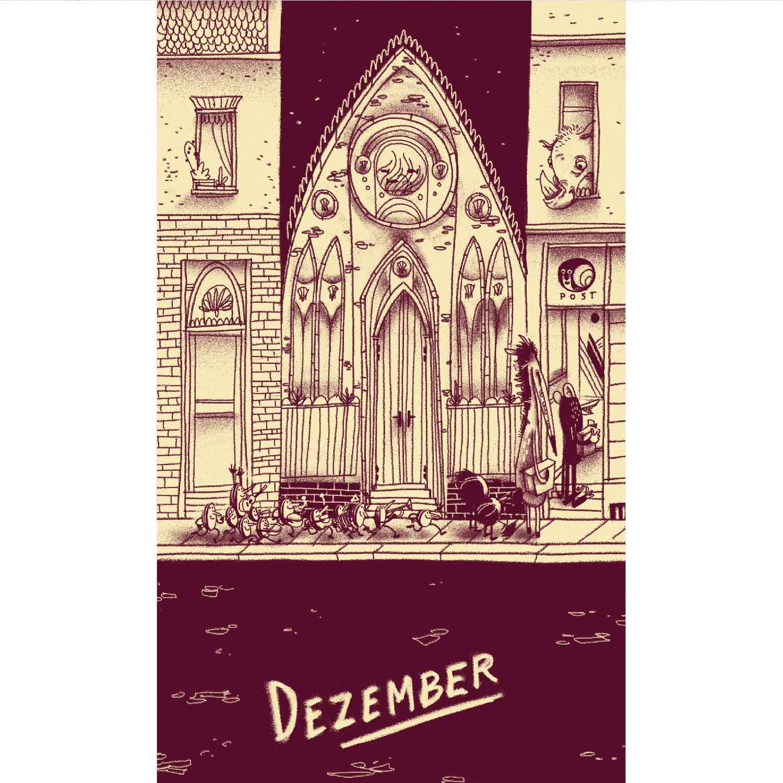 die Strasse runter Postkartenkalender