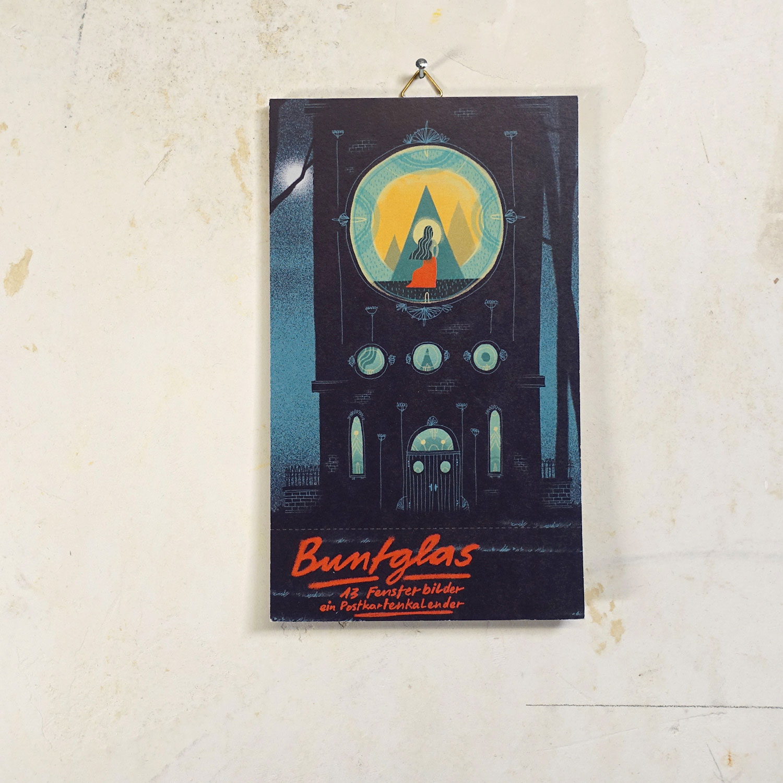 Buntglas Postkartenkalender