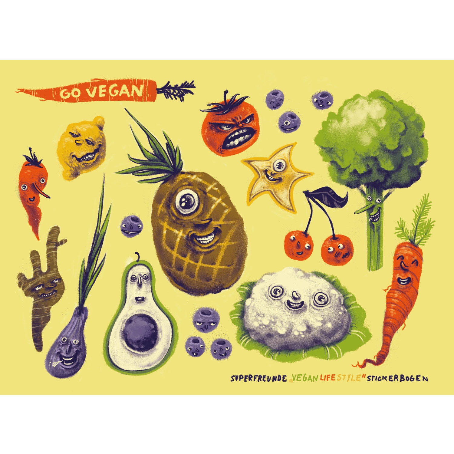 Vegan Lifestyle Stickerbogen