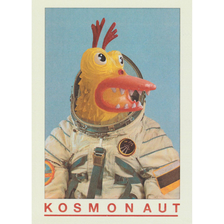 Kosmonaut Postkarte