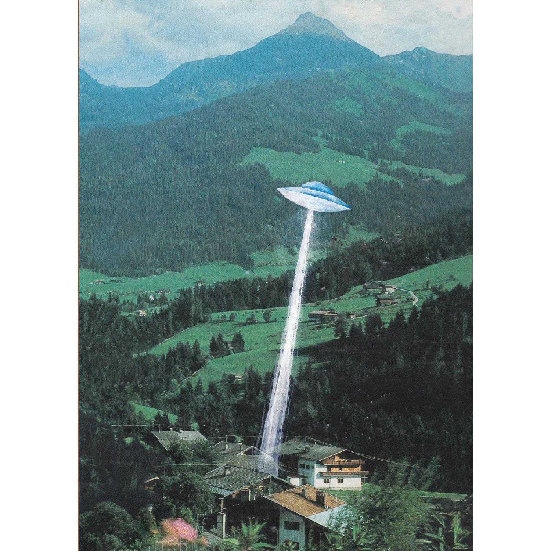 UFO Postkarte
