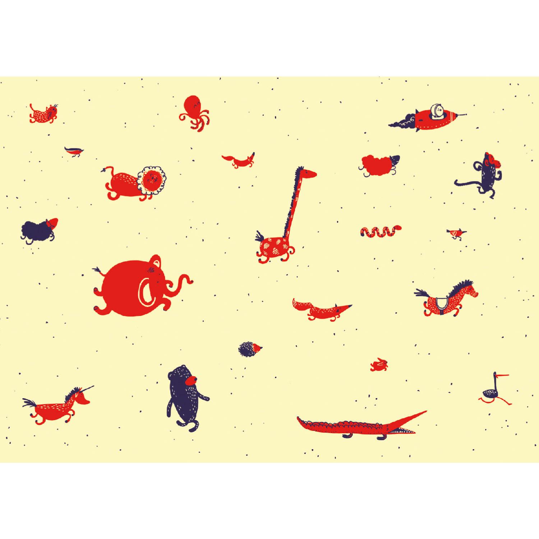 Tiere Postkarte