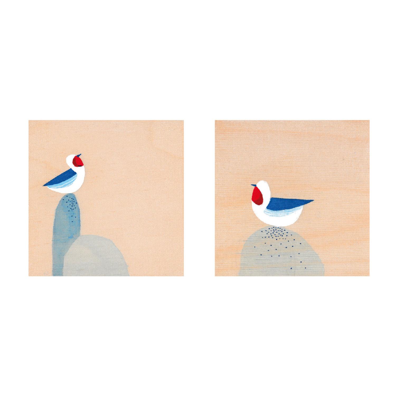 2 Vögel Postkarte