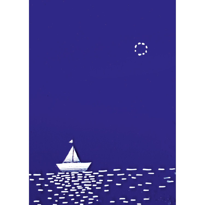 Papierboot Postkarte
