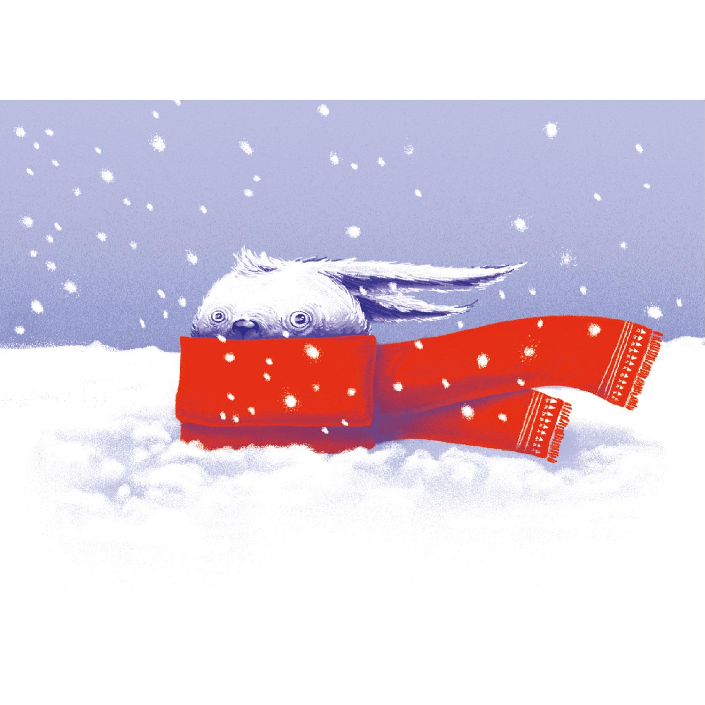 Schneehase Postkarte