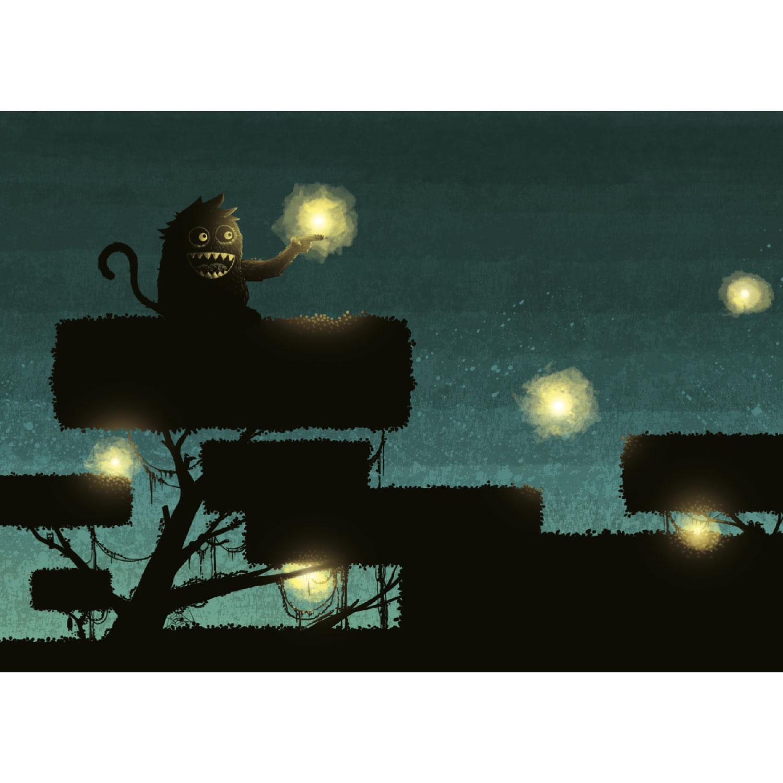 Monster haben keine Angst im Dunkeln Postkarte