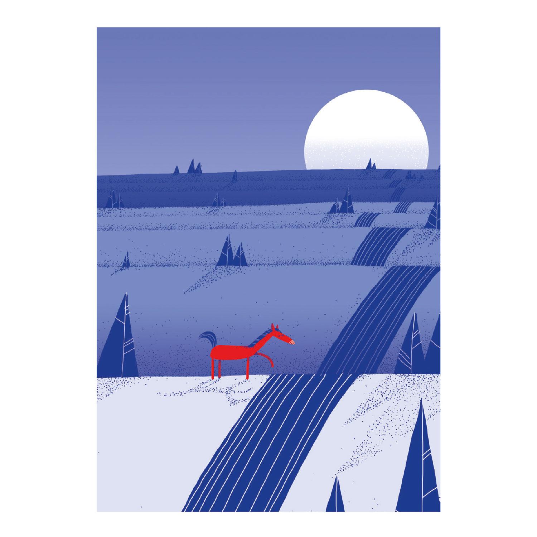 Am Fluss Postkarte